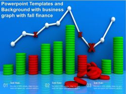 Powerpoint Templates And Background With Business Graph With Fall Finance