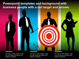 Powerpoint Templates And Background With Business People With A Red Target And Arrows