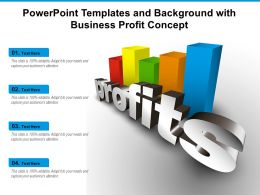 Powerpoint Templates And Background With Business Profit Concept
