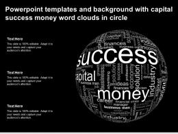 Powerpoint Templates And Background With Capital Success Money Word Clouds In Circle