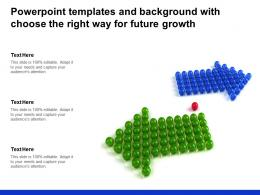 Powerpoint Templates And Background With Choose The Right Way For Future Growth