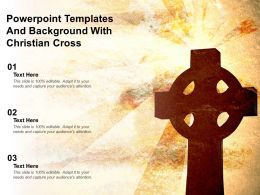 Powerpoint Templates And Background With Christian Cross