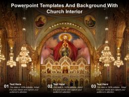 Powerpoint Templates And Background With Church Interior