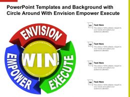 Powerpoint Templates And Background With Circle Around With Envision Empower Execute
