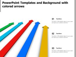 Powerpoint Templates And Background With Colored Arrows