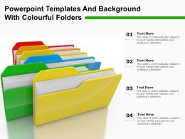 Powerpoint Templates And Background With Colourful Folders