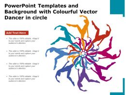 Powerpoint Templates And Background With Colourful Vector Dancer In Circle