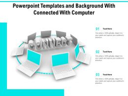 Powerpoint Templates And Background With Connected With Computer