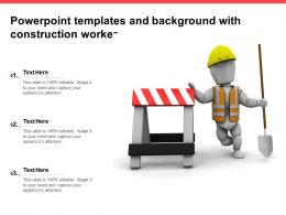 Powerpoint Templates And Background With Construction Worker