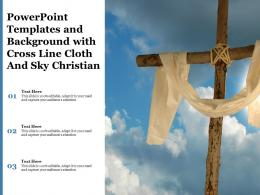 Powerpoint Templates And Background With Cross Line Cloth And Sky Christian