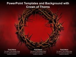 Powerpoint Templates And Background With Crown Of Thorns