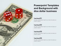 Powerpoint Templates And Background With Dice Dollar Business