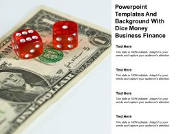 Powerpoint Templates And Background With Dice Money Business Finance