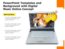 Powerpoint Templates And Background With Digital Music Online Concept