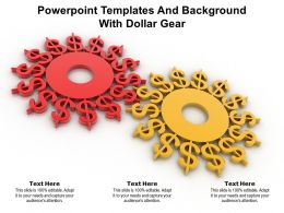 Powerpoint Templates And Background With Dollar Gear