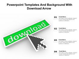 Powerpoint Templates And Background With Download Arrow