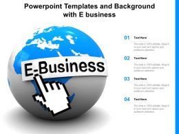 Powerpoint Templates And Background With E Business