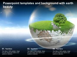 Powerpoint Templates And Background With Earth Beauty