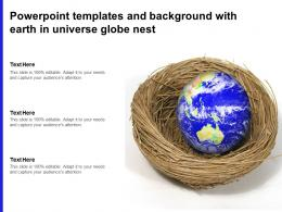 Powerpoint Templates And Background With Earth In Universe Globe Nest