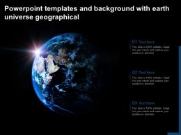Powerpoint Templates And Background With Earth Universe Geographical