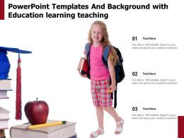 Powerpoint Templates And Background With Education Learning Teaching