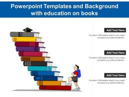 Powerpoint Templates And Background With Education On Books