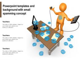 Powerpoint Templates And Background With Email Spamming Concept