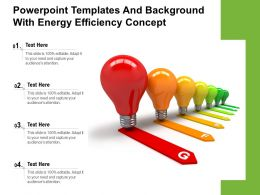 Powerpoint Templates And Background With Energy Efficiency Concept