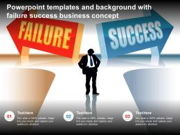 Powerpoint Templates And Background With Failure Success Business Concept