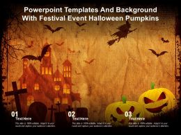 Powerpoint Templates And Background With Festival Event Halloween Pumpkins
