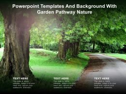 Powerpoint Templates And Background With Garden Pathway Nature