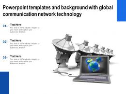 Powerpoint Templates And Background With Global Communication Network Technology