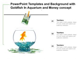 Powerpoint Templates And Background With Goldfish In Aquarium And Money Concept