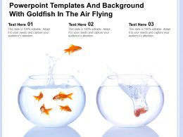 Powerpoint Templates And Background With Goldfish In The Air Flying