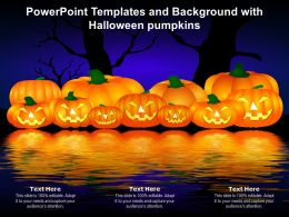 Powerpoint Templates And Background With Halloween Pumpkins