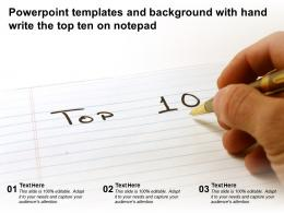 Powerpoint Templates And Background With Hand Write The Top Ten On Notepad
