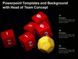 Powerpoint Templates And Background With Head Of Team Concept