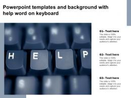 Powerpoint Templates And Background With Help Word On Keyboard