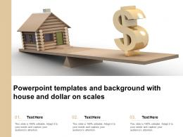 Powerpoint Templates And Background With House And Dollar On Scales