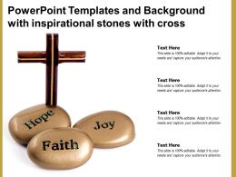 Powerpoint Templates And Background With Inspirational Stones With Cross