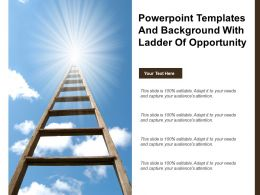Powerpoint Templates And Background With Ladder Of Opportunity