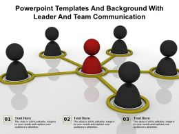 Powerpoint Templates And Background With Leader And Team Communication