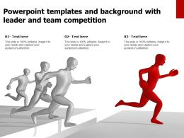 Powerpoint Templates And Background With Leader And Team Competition