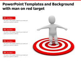 Powerpoint Templates And Background With Man On Red Target