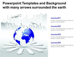Powerpoint Templates And Background With Many Arrows Surrounded The Earth