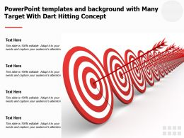 Powerpoint Templates And Background With Many Target With Dart Hitting Concept