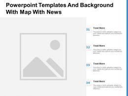 Powerpoint Templates And Background With Map With News