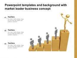 Powerpoint Templates And Background With Market Leader Business Concept