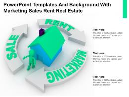 Powerpoint Templates And Background With Marketing Sales Rent Real Estate