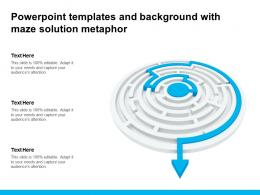 Powerpoint Templates And Background With Maze Solution Metaphor